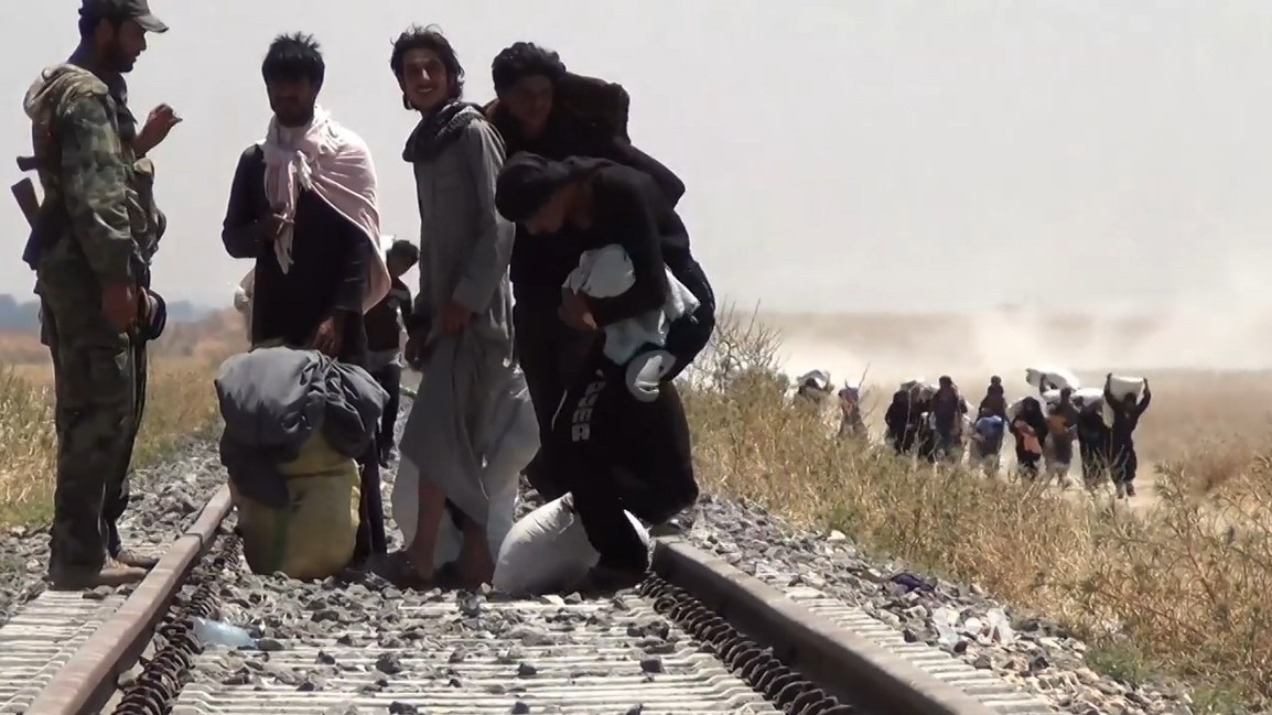 Réfugiés syriens regagnant Tell Abyad