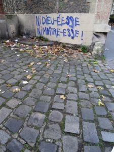 Ni dieu- déese noi maître-esse (photo tag écriture inclusive)