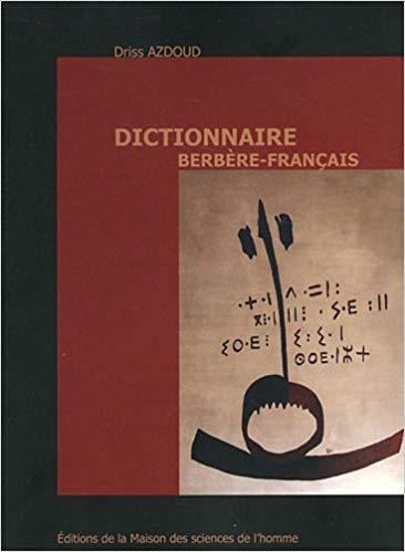 """Couverture du livre """"Dictionnaire berbère-français"""" de Azdoud"""