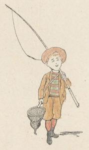 Tintin Lutin Départ pour la peche