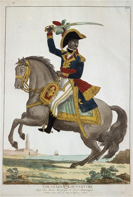 Toussaint_Louverture,_chef_des_insurgés_de_Saint-Domingue à cheval