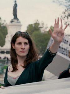 Activiste transgenre à une manifestation pour les droits des transsexualisme à Paris en France,  (photo)