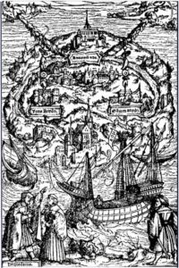 L'Utopie de Thomas More, gravure de Holbein