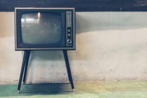 Vieux poste de TV