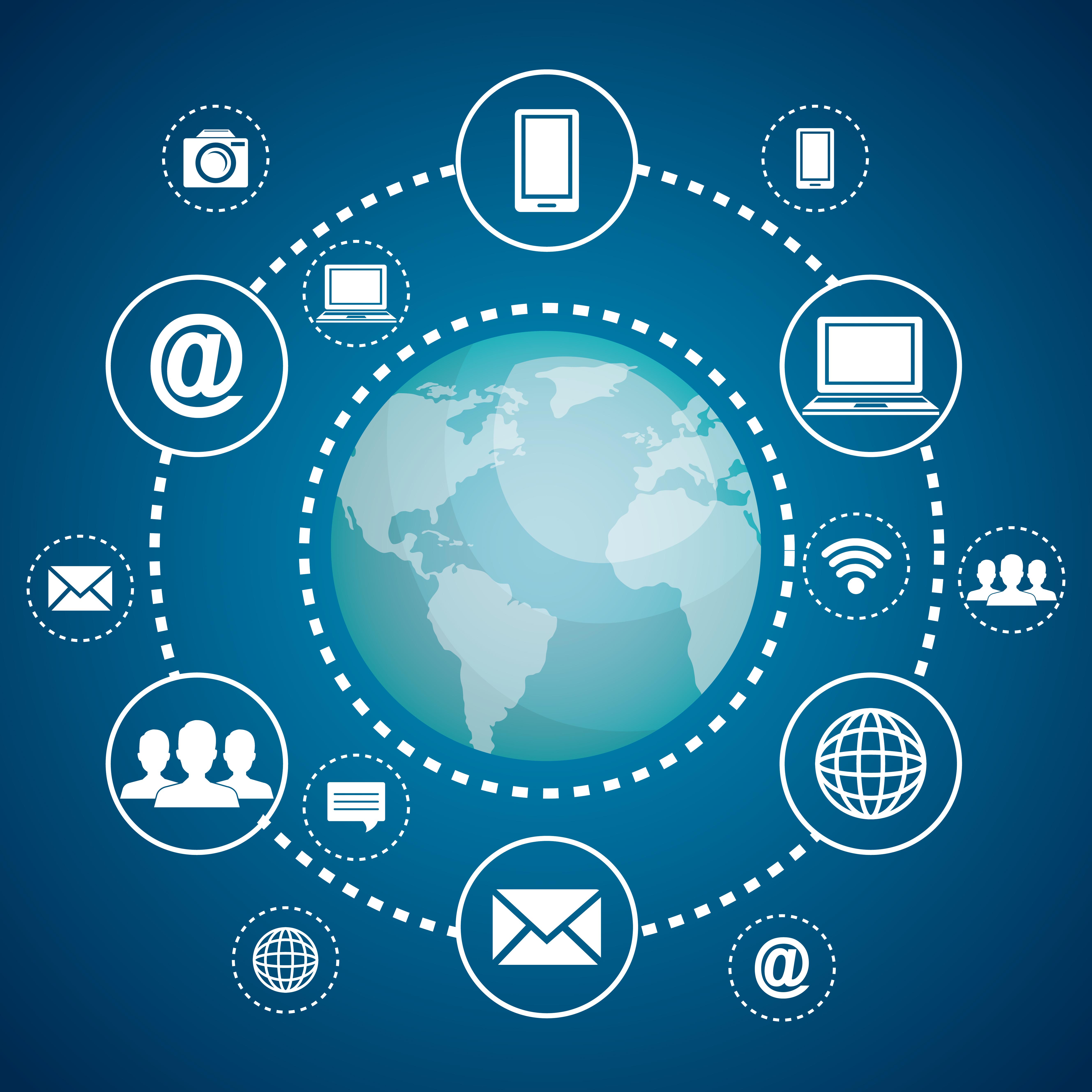 Schém des communications internet