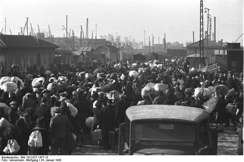 Marseille, Gare d'Arenc. Déportation juive. Janvier 1943