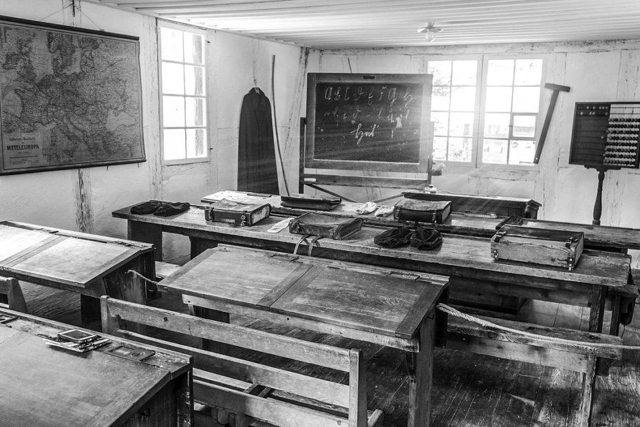 classe école noir & blanc