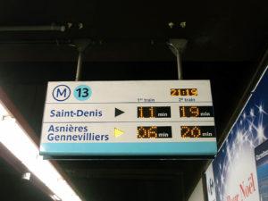 Panneau SIEL, station Miromesnil de la ligne 13 du métro de Paris