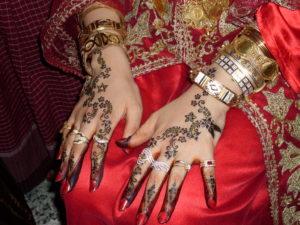 Djerba mains d'une mariée avec Henné