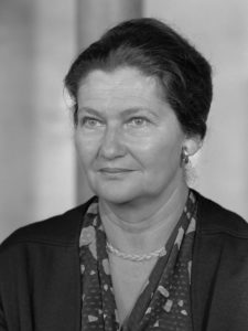 Photo n&b de Simone Veil
