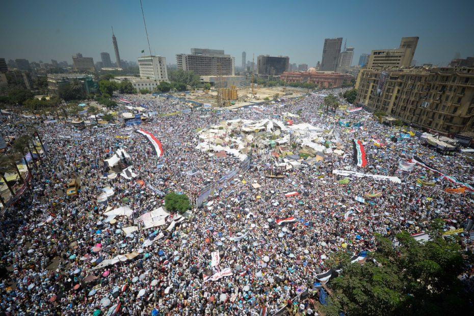 Foule sur la Place Tahrir Egypte
