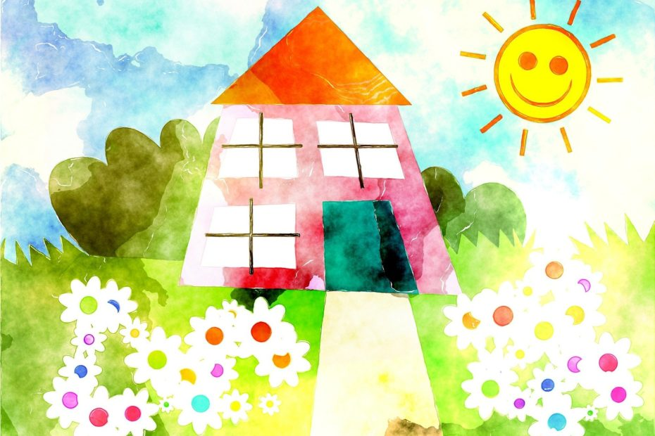Maison dessin d'enfant