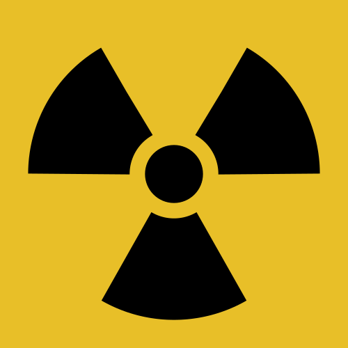 symbole radiation danger