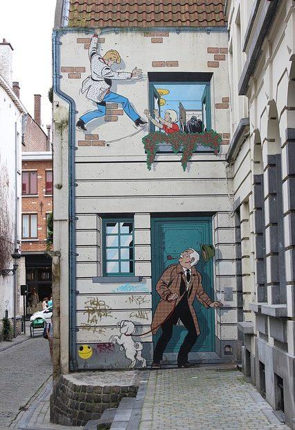 Murs peints BD Bruxelles