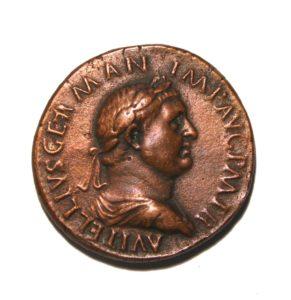 pièce de monnaie romaine de l'Empire Vitellius