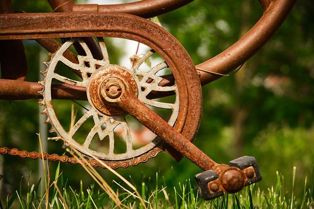 pedalier rouillé velo