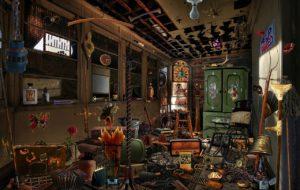 Intérieur d'une maison désordonnée