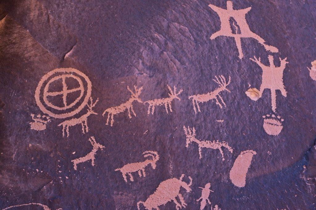 Art rupestre sur roche
