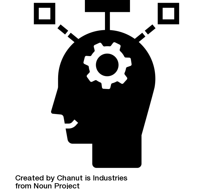 Logo d'un visage humain en réflexion