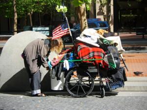 Personne sans abri dans les rues de San Francisco
