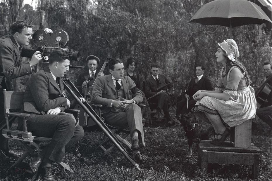 Scène de tournage de film image d'archives