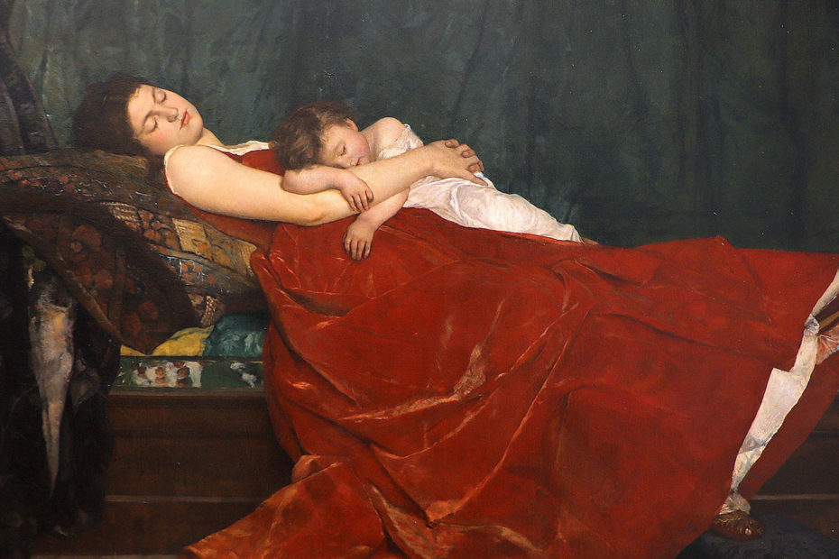 Tableau intitulé Le sommeil Alphonse Lecadre