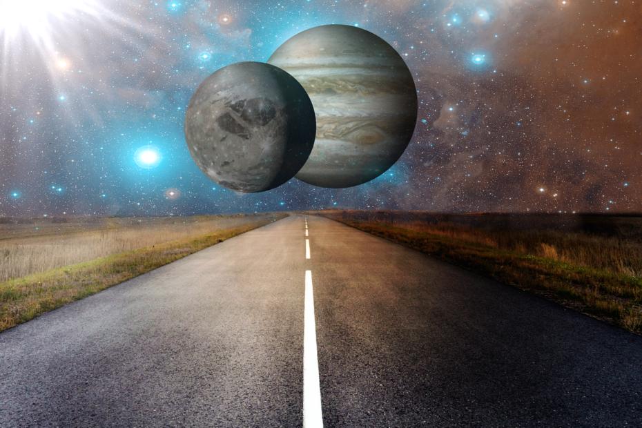 deux planètes côte à côte