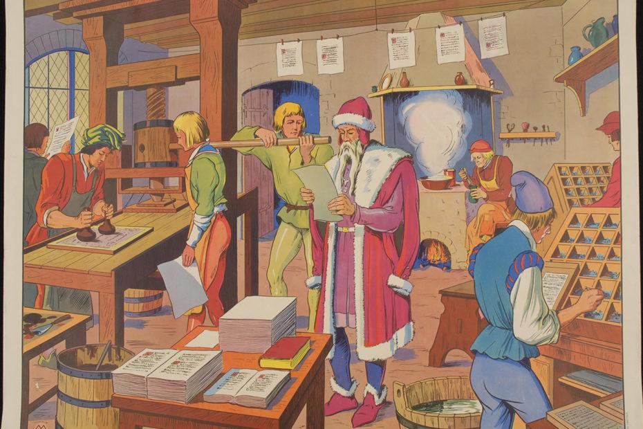 Gutenberg dans son imprimerie